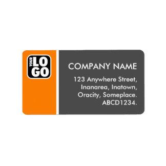 Tono dos - naranja y gris etiquetas de dirección