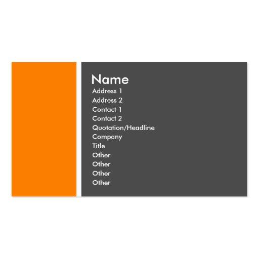 Tono dos (naranja y gris) tarjeta de negocio