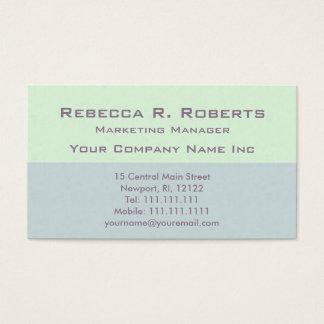 Tono dual verde ejecutivo del director de tarjetas de visita