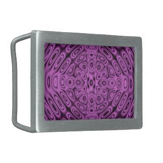 Tono en la ilusión púrpura de la difracción del hebillas cinturon rectangulares