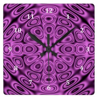 Tono en la ilusión púrpura de la difracción del reloj cuadrado