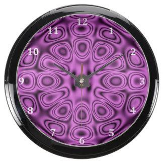 Tono en la ilusión púrpura de la difracción del relojes acuario