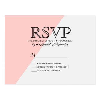 Tono ligero del rosa de color salmón y del gris tarjetas postales