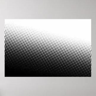 Tono medio blanco y negro poster