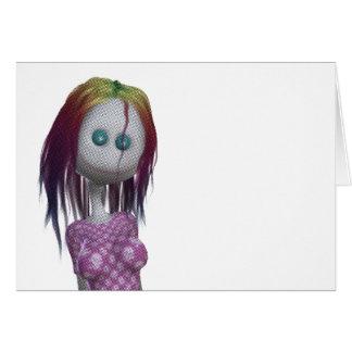 Tono medio de la muñeca del pelo 3D Bonga del arco Tarjeton