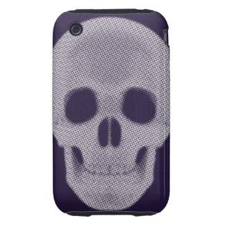 Tono medio del cráneo coloreado iPhone 3 tough fundas