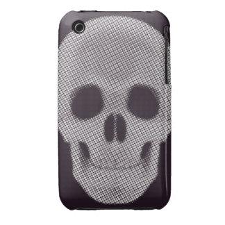 Tono medio del cráneo coloreado iPhone 3 Case-Mate cobertura