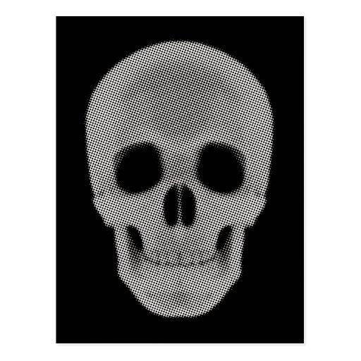 Tono medio del cráneo coloreado tarjeta postal