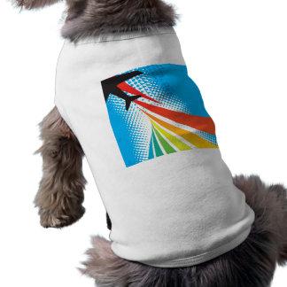 Tono medio del extracto del viaje de las vacacione camiseta de perrito