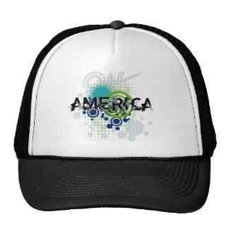 Tono medio moderno América del Grunge Gorras De Camionero