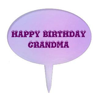 Tono multi de la abuela del feliz cumpleaños figuras para tartas