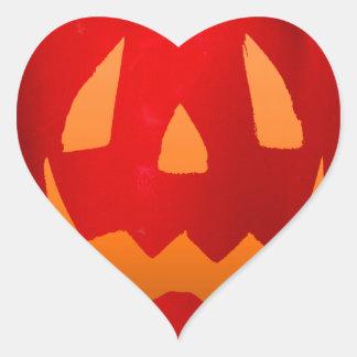 Tono naranja Bell roja Peppolantern Pegatina En Forma De Corazón
