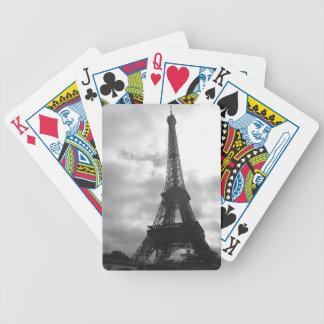 Tono negro de la torre Eiffel Cartas De Juego