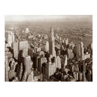 Tono Nueva York de la sepia del vintage Postal