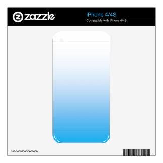 Tono pálido de Bluie dos iPhone 4 Skins