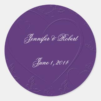 Tono púrpura en el sello ligado del sobre de los c etiquetas
