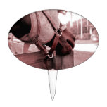 tono rojo marrón del nom del nom del caballo figuras de tarta