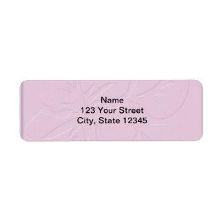 Tono rosado en hibisco del tono etiquetas de remite
