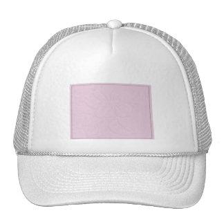 Tono rosado en hibisco del tono gorros bordados