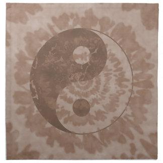 Tono Yin Yang de la tierra Servilletas