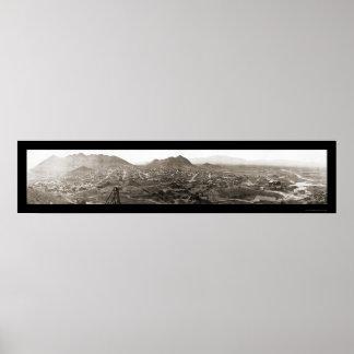Tonopah NV Panoramic Photo 1909 Poster