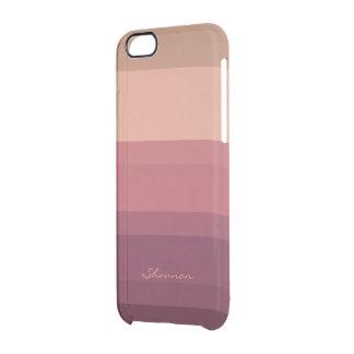 Tonos calientes sutiles y caso rayado elegante del funda clear para iPhone 6/6S