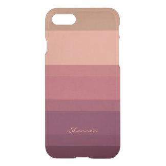 Tonos calientes sutiles y caso rayado elegante del funda para iPhone 7