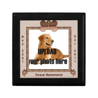 Tonos conmemorativos de Brown del perro Caja De Recuerdo