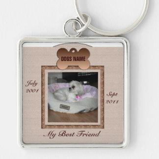 Tonos conmemorativos de Brown del perro Llaveros Personalizados