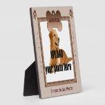 Tonos conmemorativos de Brown del perro Placa De Madera