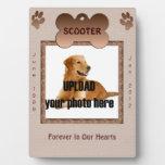 Tonos conmemorativos de Brown del perro Placas Con Foto