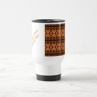 Tonos de la tierra del otoño en un diseño tribal taza de viaje de acero inoxidable