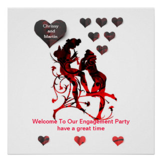 """""""Tonos del amor"""" poster del fiesta de la entrada d"""