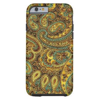 Tonos hermosos de Paisley Amarillo-Brown del Funda De iPhone 6 Tough