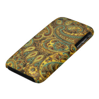 Tonos hermosos de Paisley Amarillo-Brown del iPhone 3 Fundas