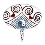 tonos rizados ying 2 de la tierra de yang decoraciones de tartas