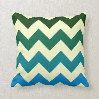 tonos verdes y azules del geometrics de moda del cojín decorativo