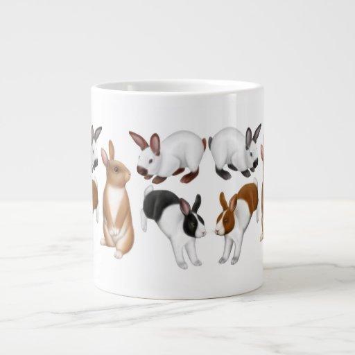 Tons of Buns Rabbit Lovers 20 Oz Large Ceramic Coffee Mug