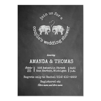 Tons of Love Chalkboard Couple's Wedding Shower Card