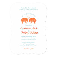 TONS OF LOVE/Elephant Couple Heart Wedding Invites
