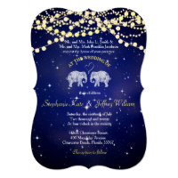 TONS OF LOVE/Elephant Night Lights Wedding Invites