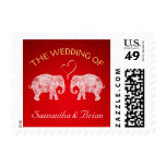 TONS OF LOVE | Elephant Red Theme Wedding Custom Postage