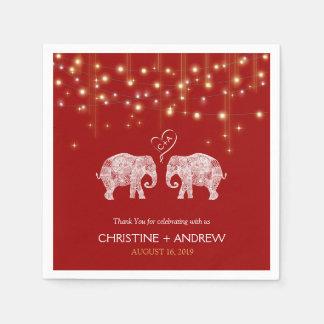 TONS OF LOVE / Elephant String Lights Custom Napkin