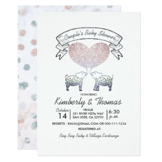 Tons of Love Neutral Gender Couple's Baby Shower Card