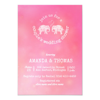 Tons of Love Pink Couple's Wedding / Birdal Shower Card