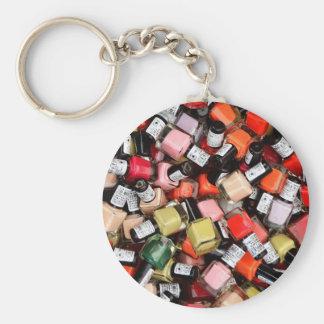 Tons of Nail Polish Bottles Keychain
