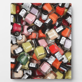 Tons of Nail Polish Bottles Plaque