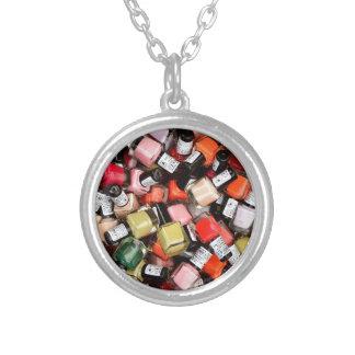 Tons of Nail Polish Bottles Round Pendant Necklace