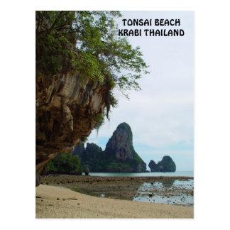 Tonsai Beach, Krabi Thailand Postcard