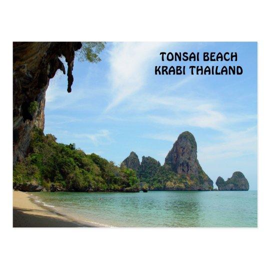 Tonsai Beach Krabi, Thailand Postcard